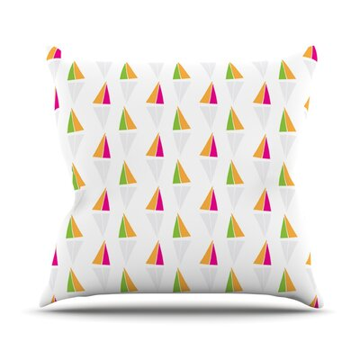 Triangles by Apple Kaur Designs Outdoor Throw Pillow