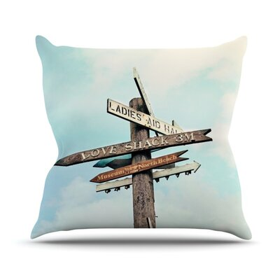 Love Shack by Sylvia Cook Outdoor Throw Pillow