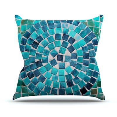 Circular by Sylvia Cook Outdoor Throw Pillow