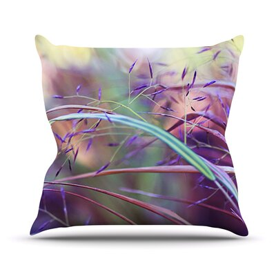 Pretty Grasses by Sylvia Cook Outdoor Throw Pillow