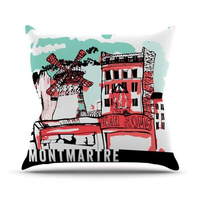 Montmartre Outdoor Throw Pillow