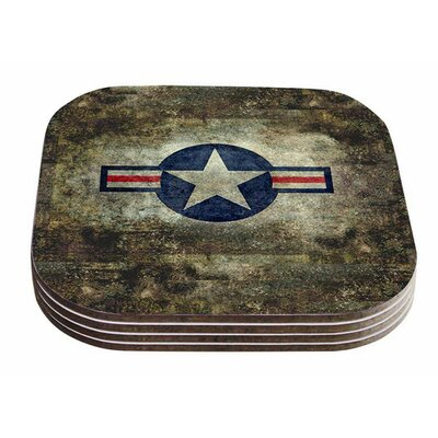 USAF Vintage Retro Style Round by Bruce Stanfield Coaster ERBN1856 33770499
