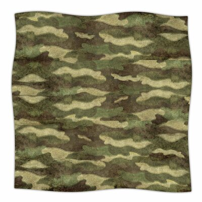 Dirty Camo by Bruce Stanfield Fleece Blanket Size: 80'' L x 60'' W