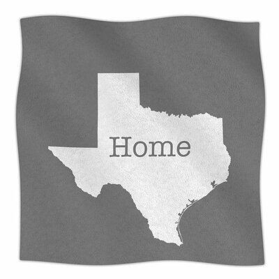 Texas Is Home by Bruce Stanfield Fleece Blanket Size: 80 L x 60 W