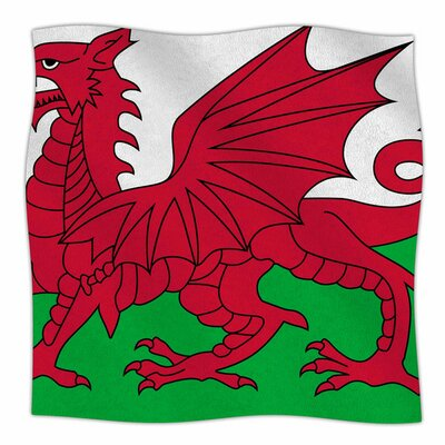 Flag of Wales - Authentic by Bruce Stanfield Fleece Blanket