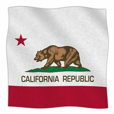 California State Flag by Bruce Stanfield Fleece Blanket Size: 80 L x 60 W