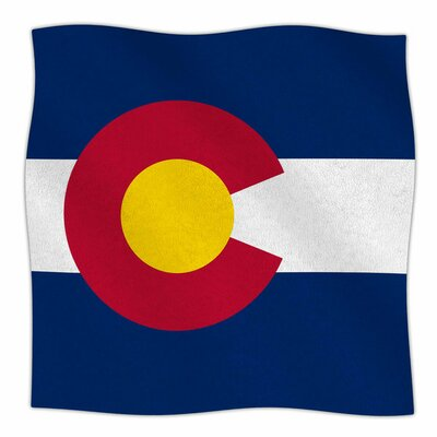 Colorado State Flag by Bruce Stanfield Fleece Blanket Size: 80'' L x 60'' W