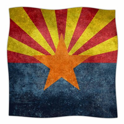 Arizona State Flag Retro Style by Bruce Stanfield Fleece Blanket Size: 80 L x 60 W
