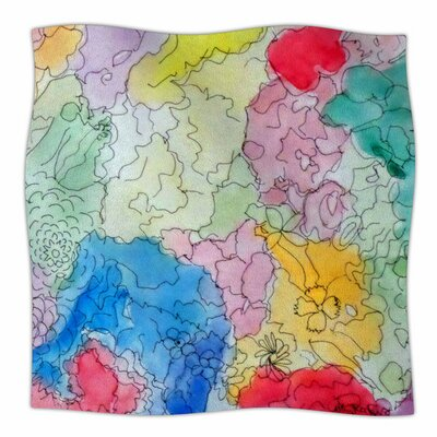 Floral Pathway by Cathy Rodgers Fleece Blanket Size: 80 L x 60 W