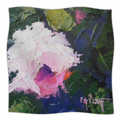 Textured Pink Rose by Carol Schiff Fleece Blanket Size: 80 L x 60 W
