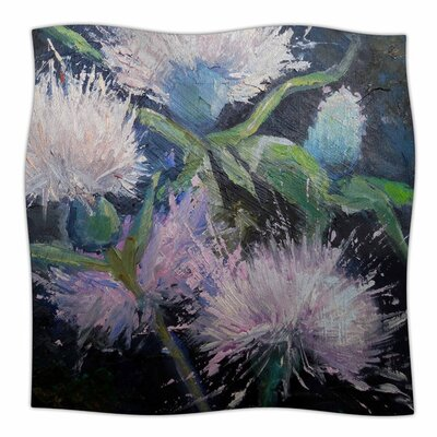 Thistle Love by Carol Schiff Fleece Blanket