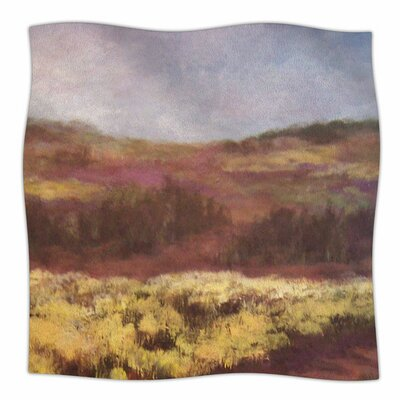 Field Of Yellow by Cyndi Steen Fleece Blanket Size: 80 L x 60 W