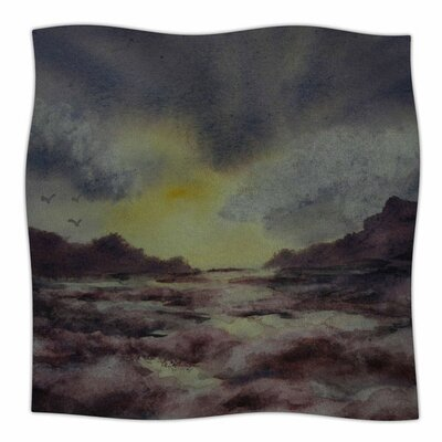 Crashing Waves by Cyndi Steen Fleece Blanket Size: 80 L x 60 W