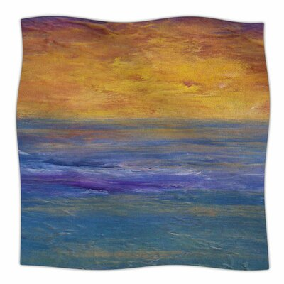 Sky On Fire by Cyndi Steen Fleece Blanket Size: 80 L x 60 W