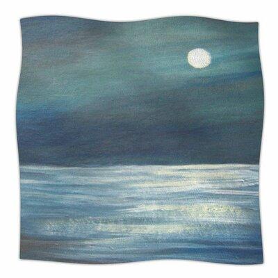 A Walk in the Moonlight by Cyndi Steen Fleece Blanket