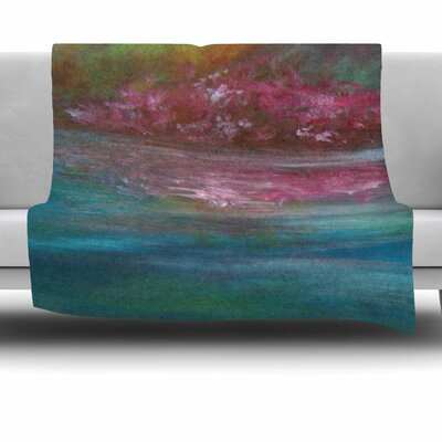 Boungainvillea Reflections by Cyndi Steen Fleece Blanket