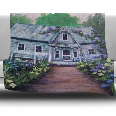 Ivy Cottage Again by Cyndi Steen Fleece Blanket