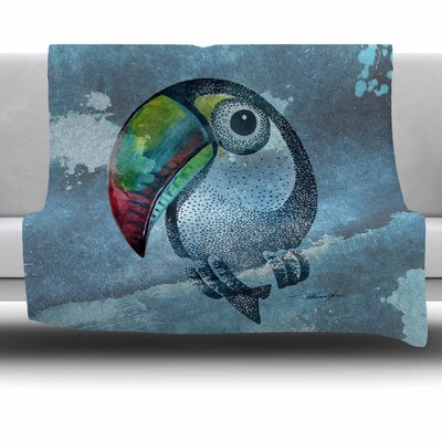 Tucan by Ivan Joh Fleece Blanket