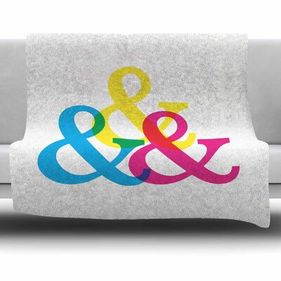 Cymk Ampersands by Jackie Rose Fleece Blanket