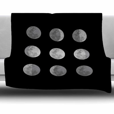 Lunar Ocd by Jackie Rose Fleece Blanket