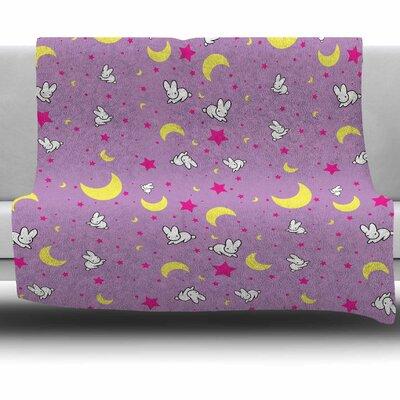 Goodnight Usagi by Jackie Rose Fleece Blanket