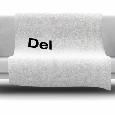 Delete by Jackie Rose Fleece Blanket