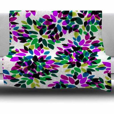 Dahlia Dots 2 by Ebi Emporium Fleece Blanket