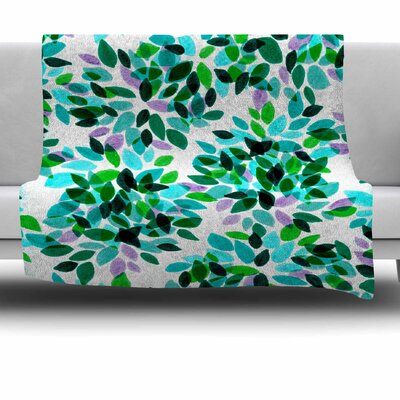 Dahlia Dots 7 by Ebi Emporium Fleece Blanket