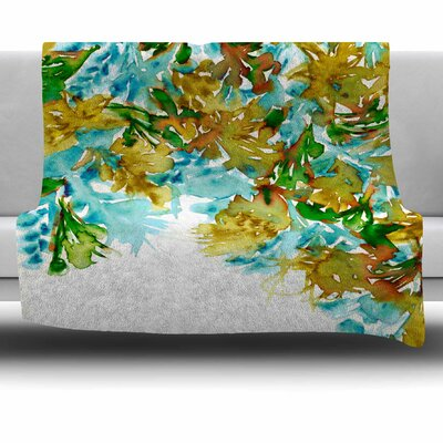 Floral Cascade 9 by Ebi Emporium Fleece Blanket