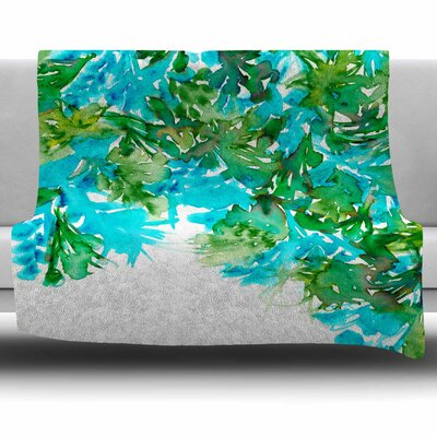 Floral Cascade 8 by Ebi Emporium Fleece Blanket