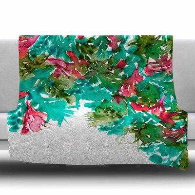 Floral Cascade 7 by Ebi Emporium Fleece Blanket