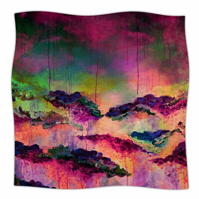 Its A Rose Colored Life 3 by Ebi Emporium Fleece Blanket Size: 80 L x 60 W