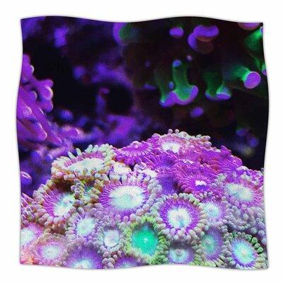 Coral Reef by Liz Perez Fleece Blanket