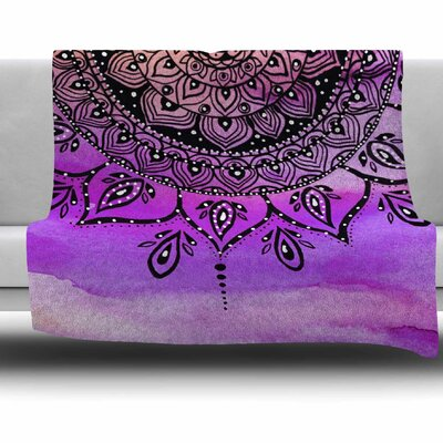 Lilac Mandala by Li Zamperini Fleece Blanket