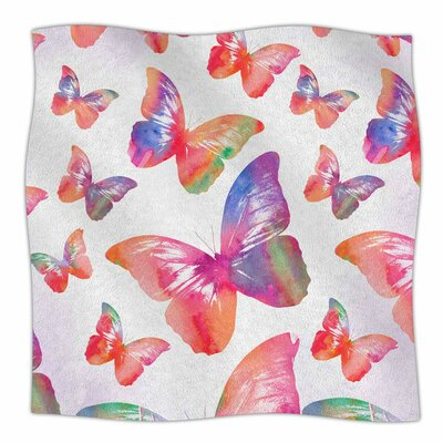 Butterfly by Li Zamperini Fleece Blanket Size: 80'' L x 60'' W