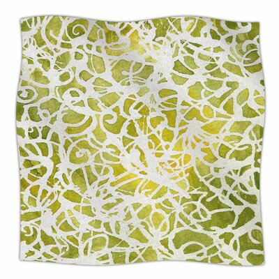 Spiral by Rosie Brown Fleece Blanket Size: 40 L x 30 W