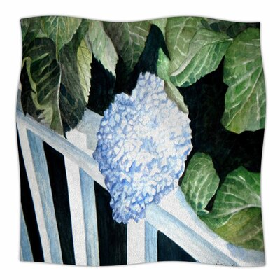 Hydrangea by Rosie Brown Fleece Blanket