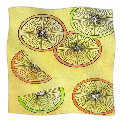 Lemons and Limes by Rosie Brown Fleece Blanket