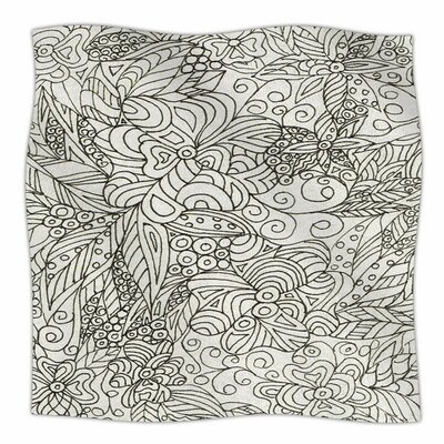 Zentangle Garden by Rosie Brown Fleece Blanket