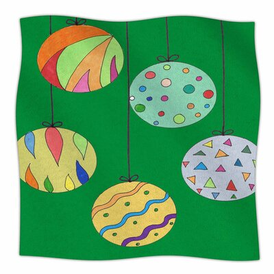 Trim the Tree Green by Rosie Brown Fleece Blanket