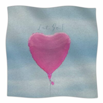 Let Go! by Robin Dickinson Fleece Blanket