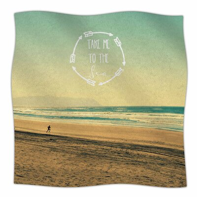 Take Me to the Sea by Robin Dickinson Fleece Blanket