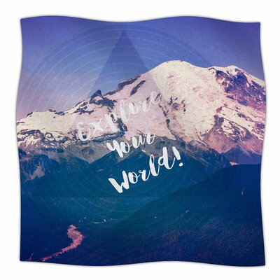 Explore Your World! by Robin Dickinson Fleece Blanket