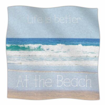 Life is Better at the Beach by Sylvia Coomes Fleece Blanket