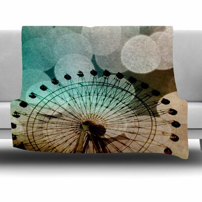 Ferris Wheel Silhouette by Sylvia Coomes Fleece Blanket