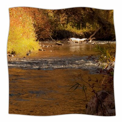 Autumn Stream by Sylvia Coomes Fleece Blanket