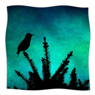 Bird Silhouette by Sylvia Coomes Fleece Blanket