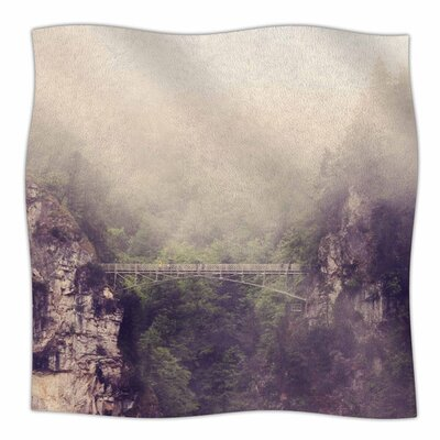 Foggy Mountain Landscape by Sylvia Coomes Fleece Blanket