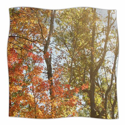 Autumn Trees 1 by Sylvia Coomes Fleece Blanket