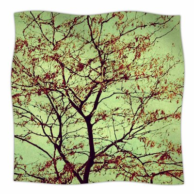 Modern Fall Tree by Sylvia Coomes Fleece Blanket